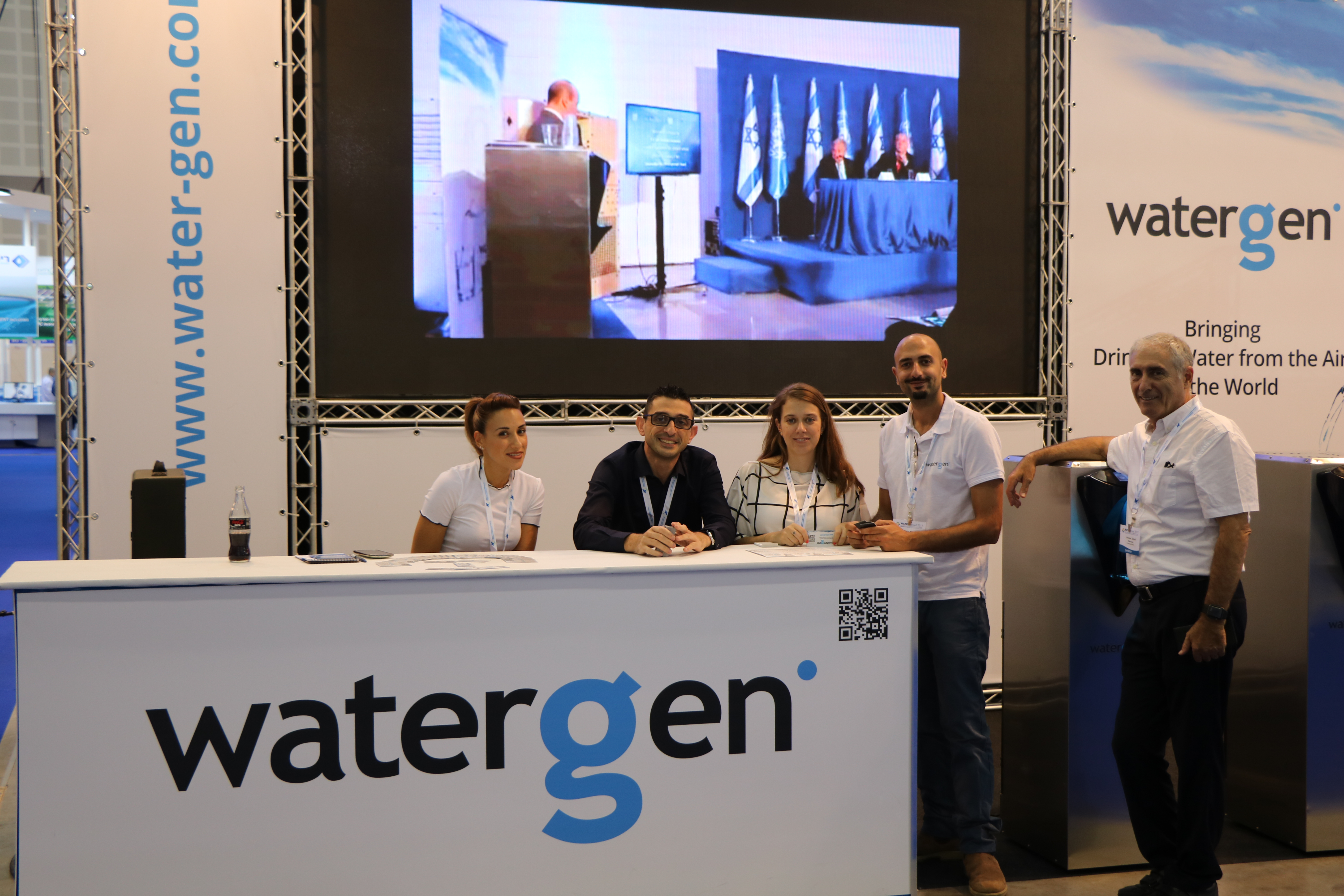 At Watec-Israel, Water-Gen's showcased the Genny home and office consumer unit and took orders for Large Scale and mid-size GEN-350 units