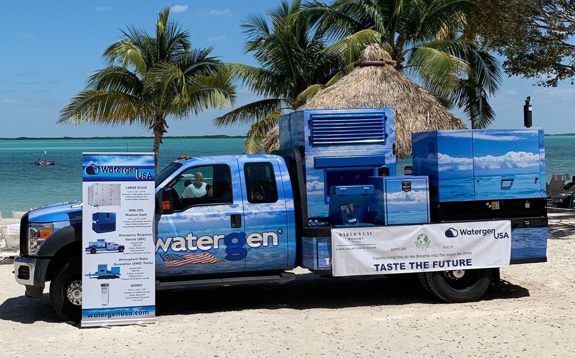 Earth Day event in the Florida Keys highlights making clean drinking water from the air
