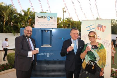 Watergen Featured at U.S. Embassy 4th of July Celebration