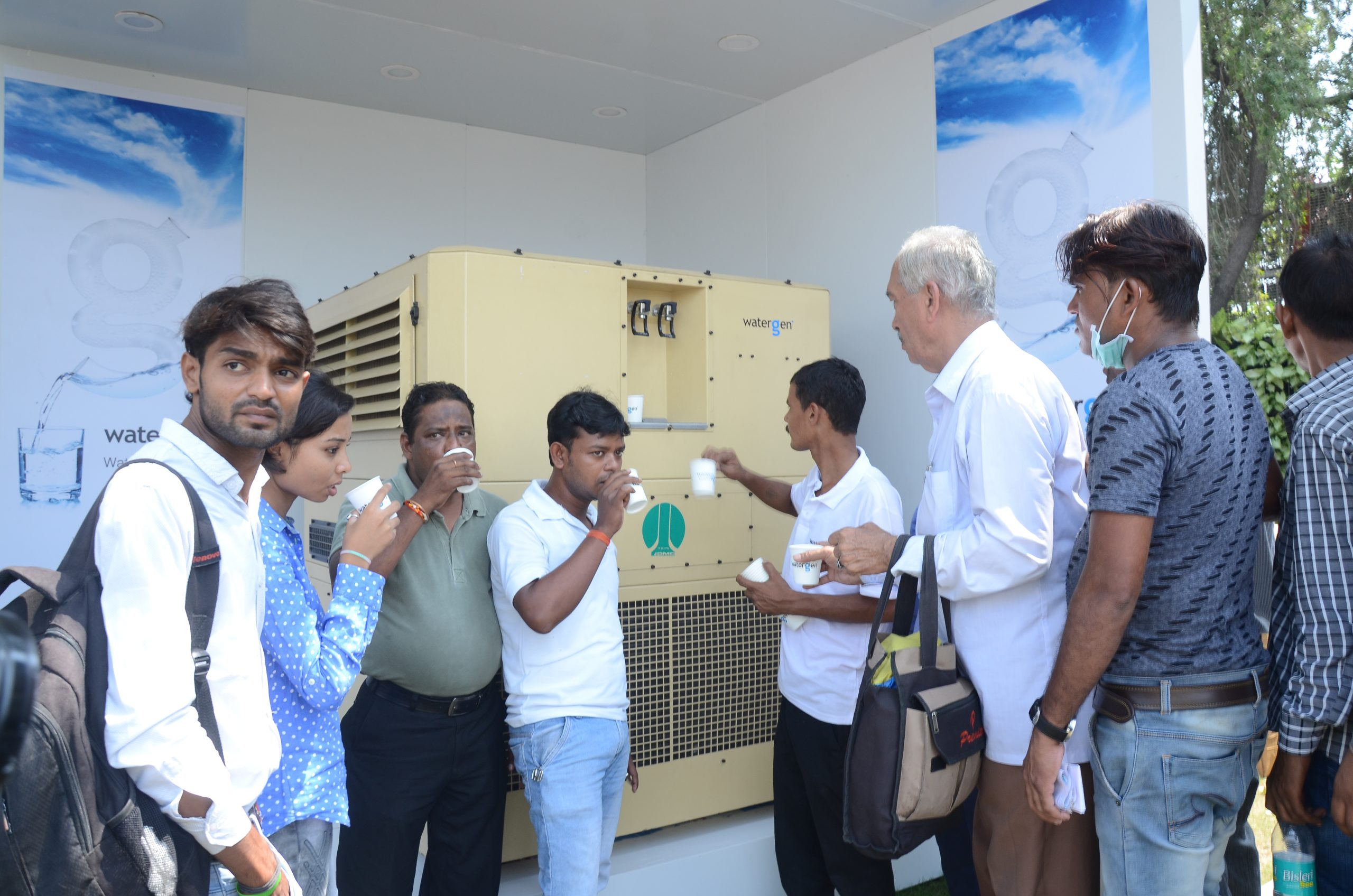 Watergen in collaboration with NDMC installed Air to Water ATM at Connaught Place