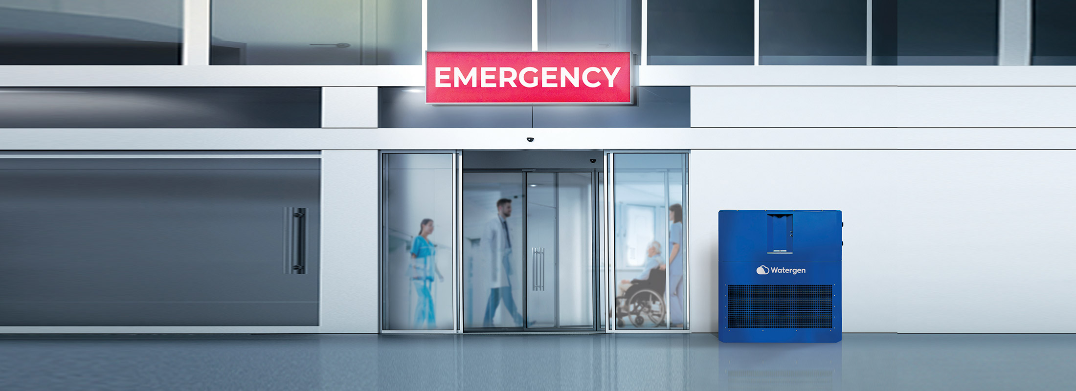 Gen-M in front of an Emergency Department at a hospital