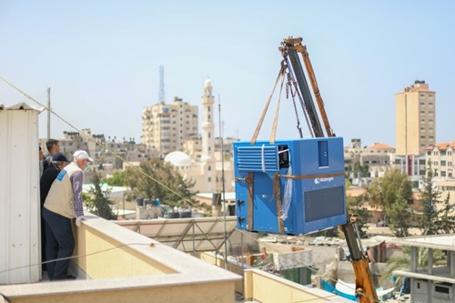 Kan 11's  news team explores how Watergen is helping to solve Gaza's water stress.