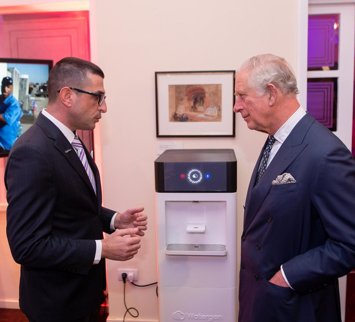 HRH Prince Charles introduced to Watergen technology during visit to Israel