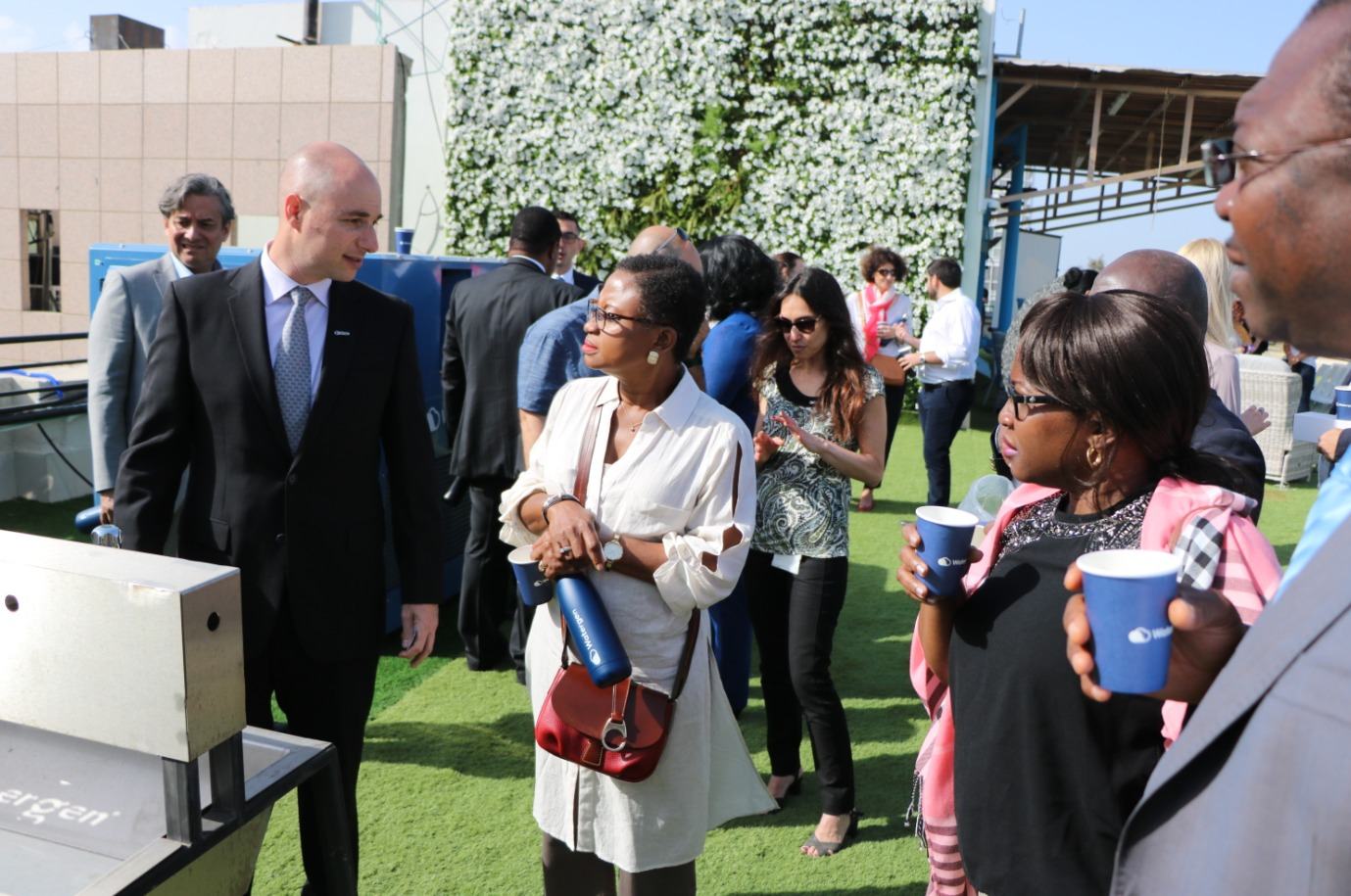 Delegation of UN Ambassadors See, Hear and Taste From Watergen's Life-Saving Technology