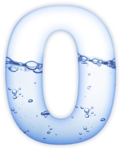 O with water